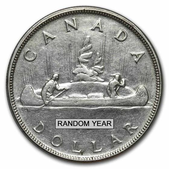 1937-1952 Canada Silver Dollar George VI Avg Circ (.800 Fine)
