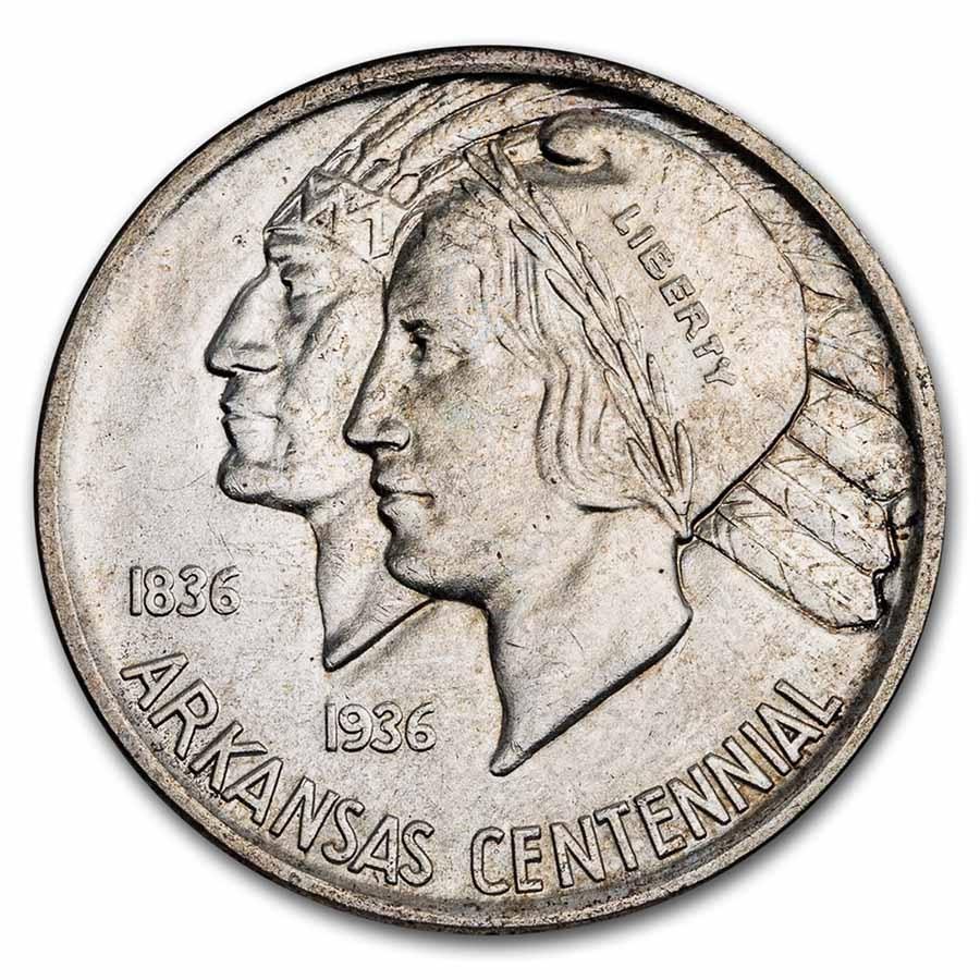 1937 Arkansas Centennial Half BU