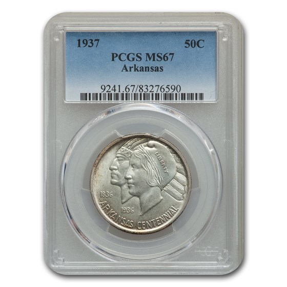 1937 Arkansas Half Dollar Commem MS-67 PCGS