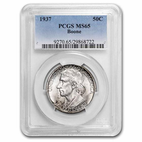 1937 Boone Half Dollar Commem MS-65 PCGS