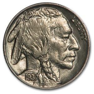 1937 Buffalo Nickel Choice AU