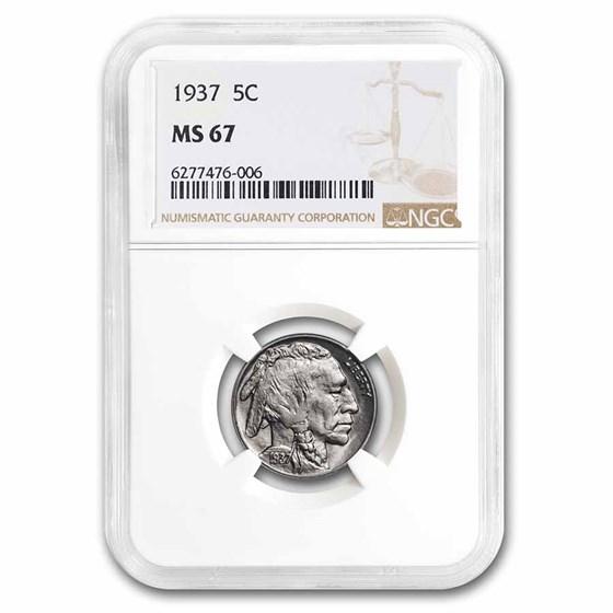1937 Buffalo Nickel MS-67 NGC