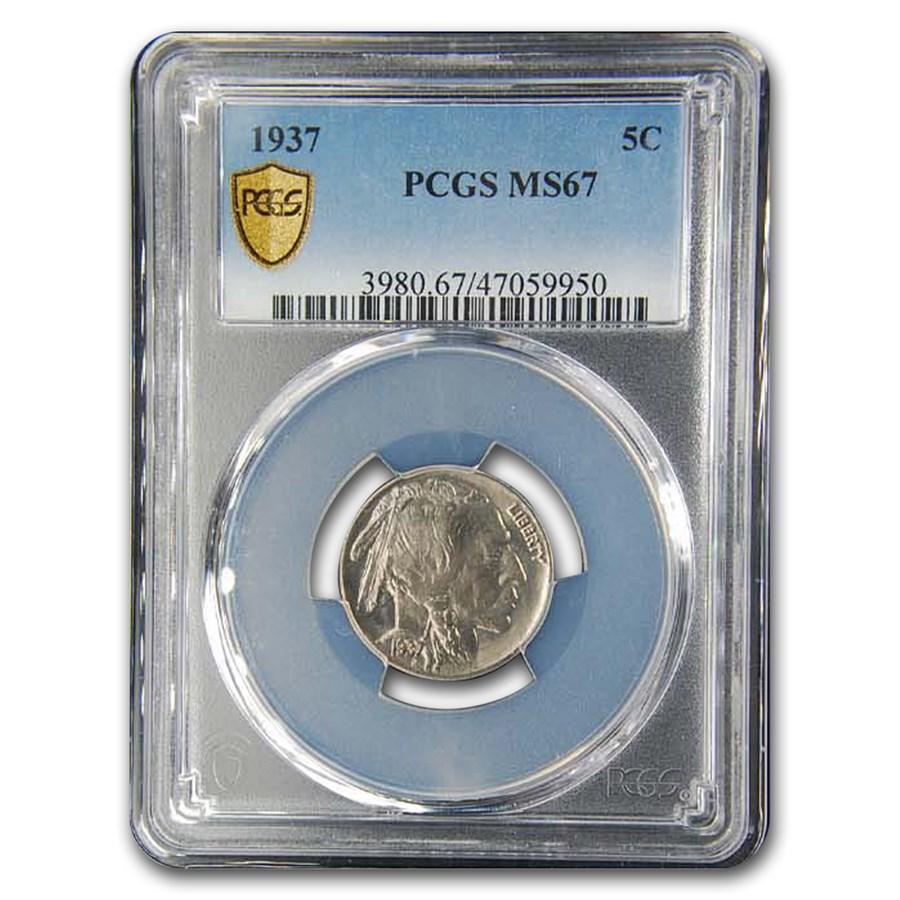 1937 Buffalo Nickel MS-67 PCGS