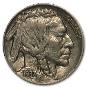 1937 Buffalo Nickel XF