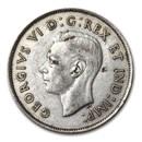 1937 Canada Silver 50 Cents George VI XF