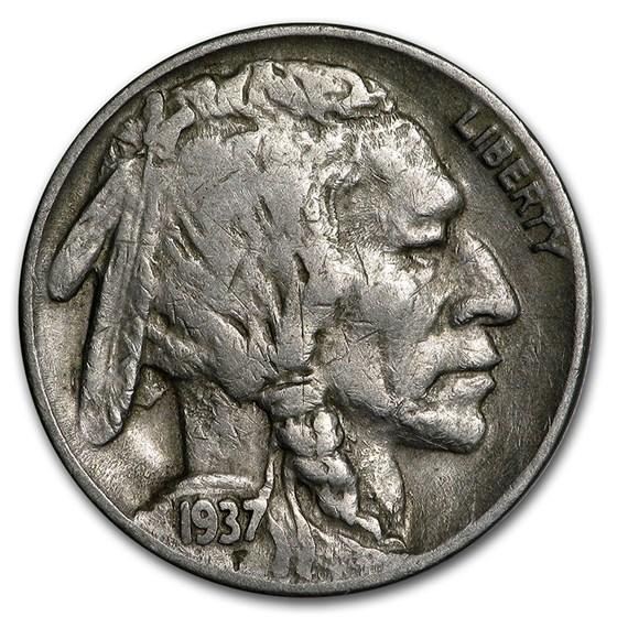 1937-D 3-Legged Buffalo Nickel VF