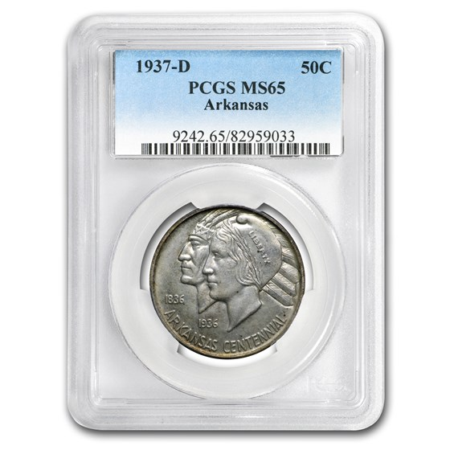 1937-D Arkansas Half Dollar MS-65 PCGS