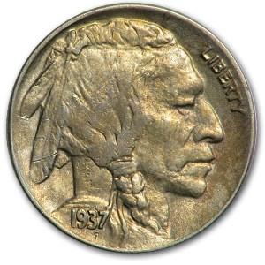 1937-D Buffalo Nickel AU