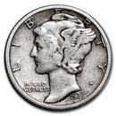 1937-D Mercury Dime Fine/VF