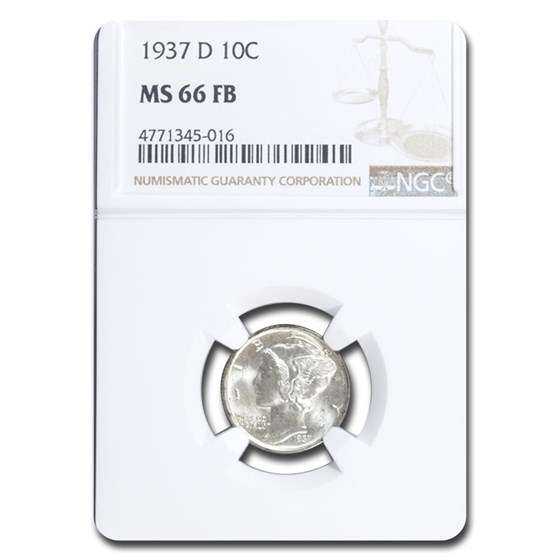 1937-D Mercury Dime MS-66 NGC (FB)