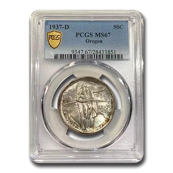 1937-D Oregon Commemorative Half Dollar MS-67 PCGS