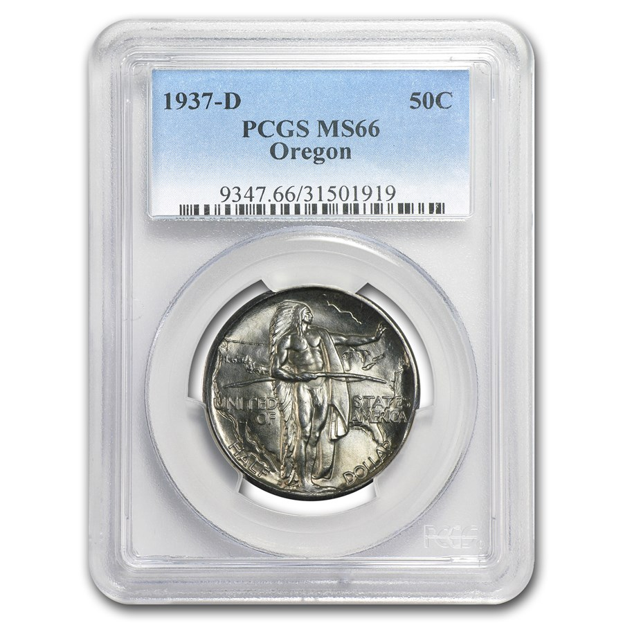 1937-D Oregon Half Dollar Commem MS-66 PCGS