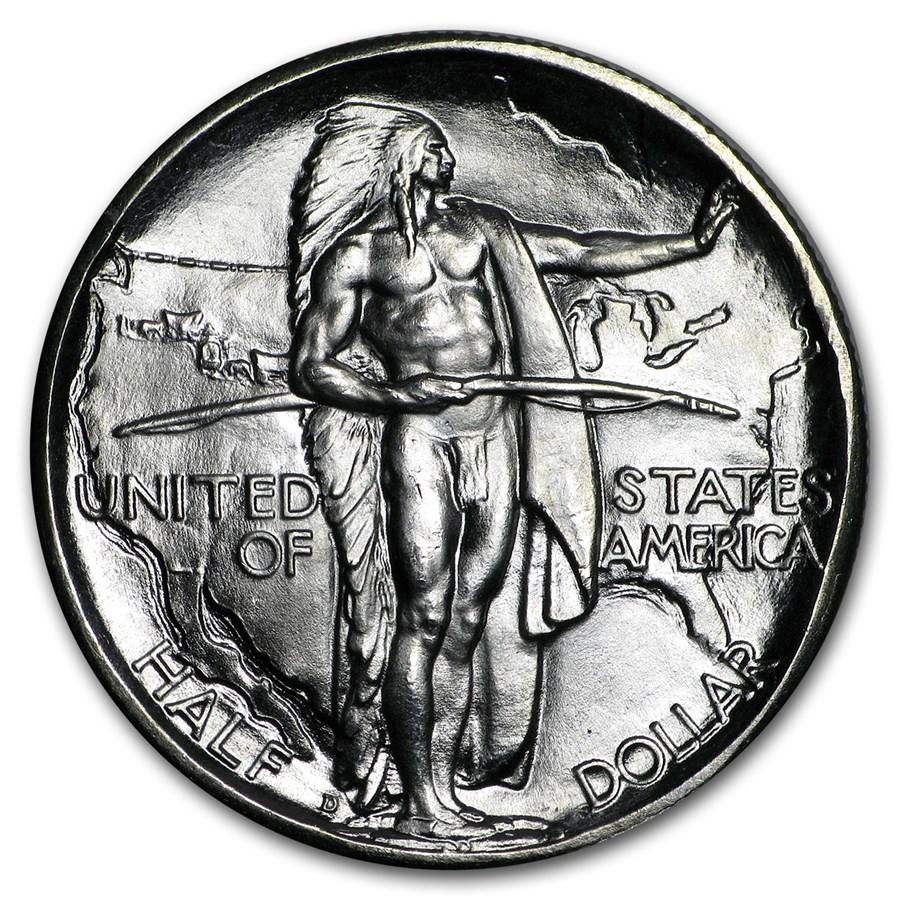 1937-D Oregon Trail Memorial Half Dollar Commem Half BU