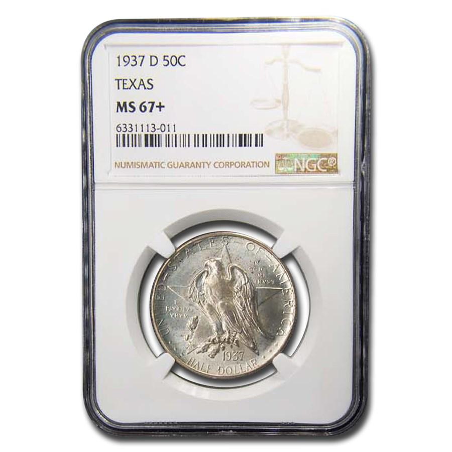 1937-D Texas Centennial Commemorative Half Dollar MS-67+ NGC