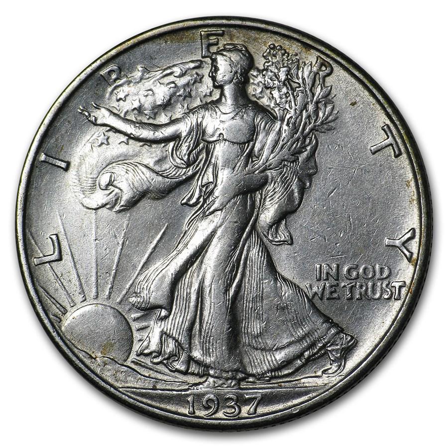 1937-D Walking Liberty Half Dollar AU