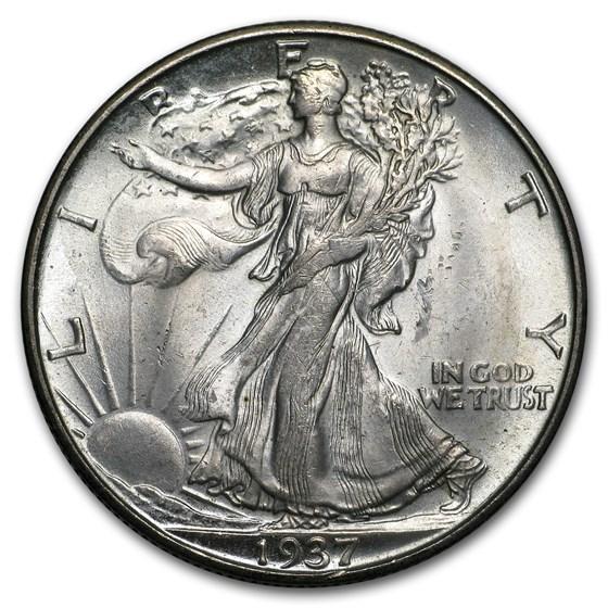1937-D Walking Liberty Half Dollar BU