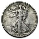 1937-D Walking Liberty Half Dollar VG/VF