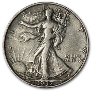 1937-D Walking Liberty Half Dollar XF