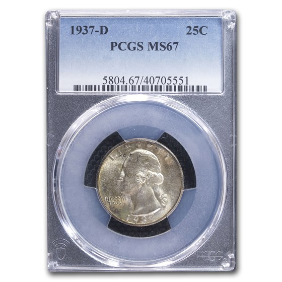 1937-D Washington Quarter MS-67 PCGS