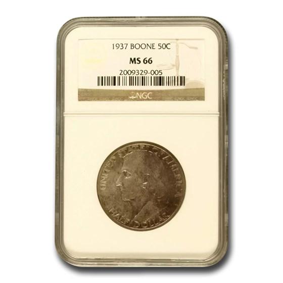 1937 Daniel Boone Half Dollar MS-66 NGC