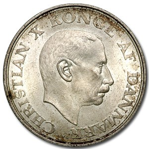 1937 Denmark 2 Kroner AU
