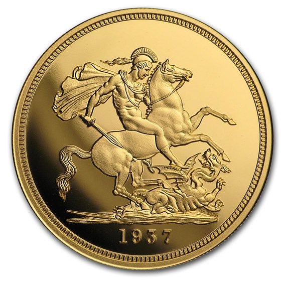 1937 Gold Proof Edward VIII Replica Sovereign