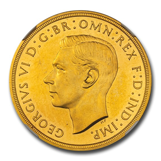 1937 Great Britain Gold 5 Pounds George VI PR-62 Cameo NGC