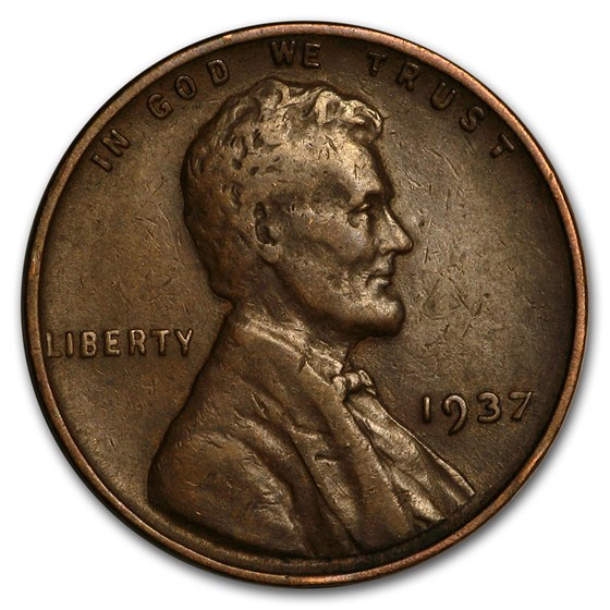 1937 Lincoln Cent Fine+