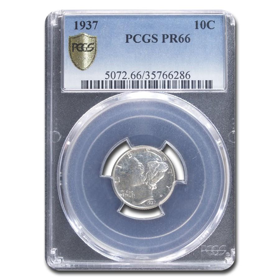 1937 Mercury Dime PR-66 PCGS