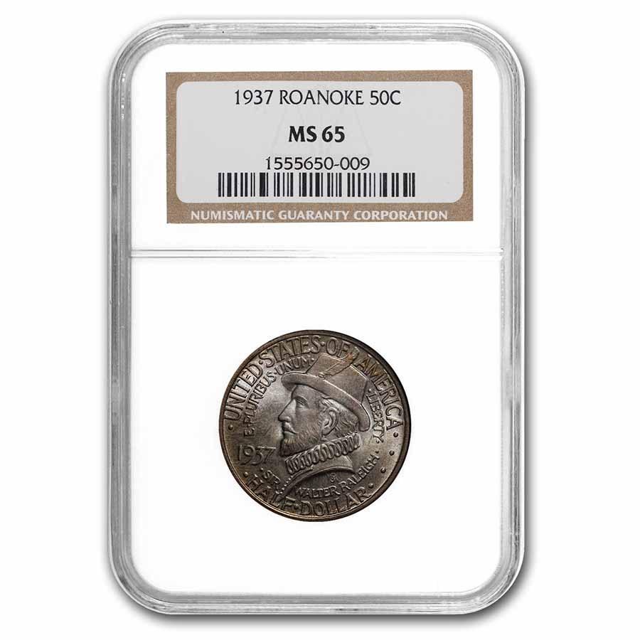 1937 Roanoke Commemorative Half Dollar MS-65 NGC