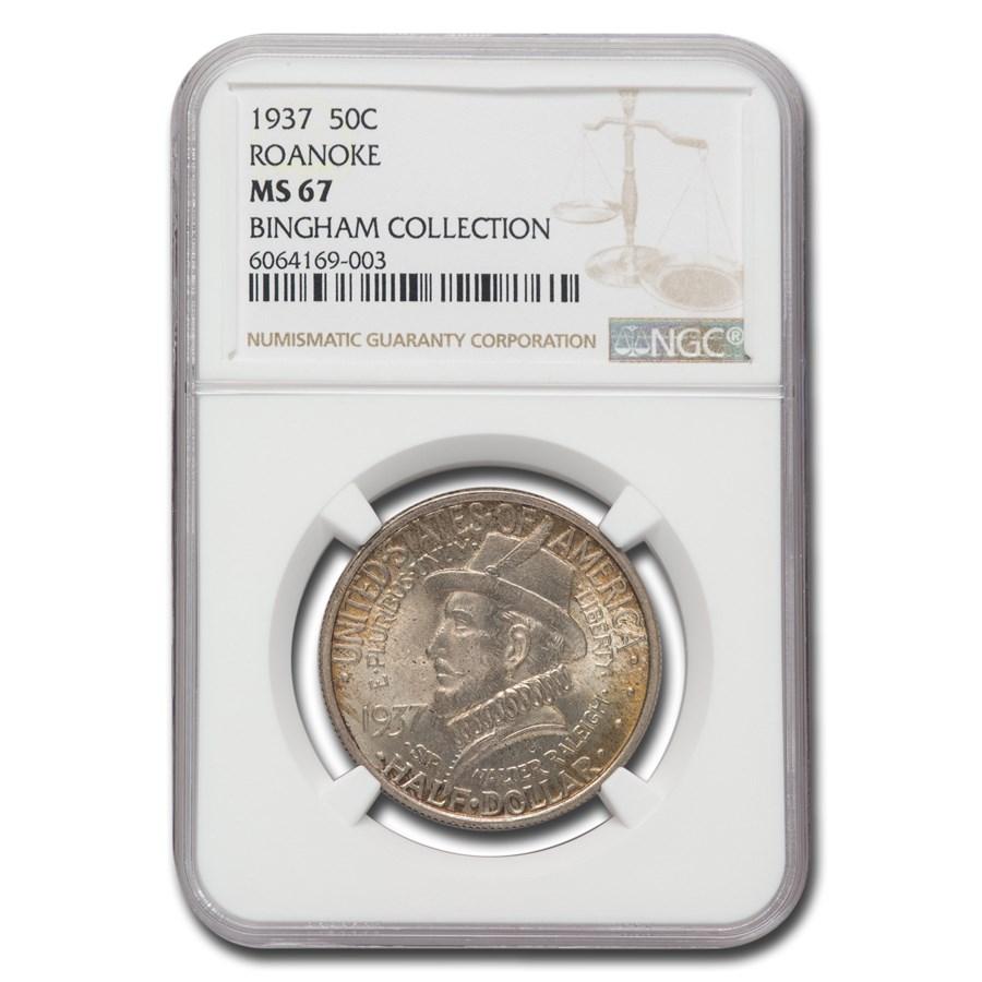 1937 Roanoke Half Dollar 350th Anniversary MS-67 NGC