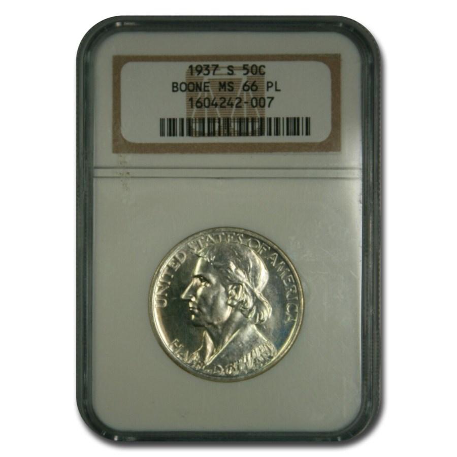 1937-S Boone Commemorative Half Dollar MS-66 NGC (PL)