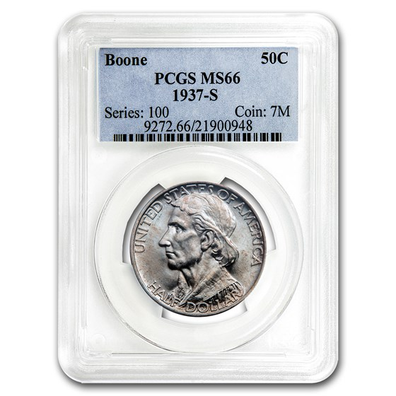 1937-S Boone Half Dollar MS-66 PCGS