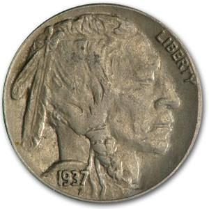 1937-S Buffalo Nickel AU