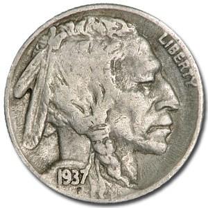 1937-S Buffalo Nickel Good+