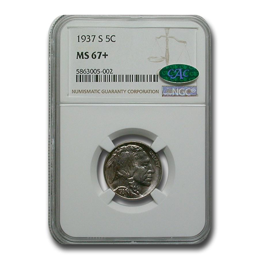 1937-S Buffalo Nickel MS-67+ NGC CAC