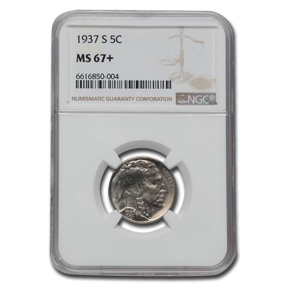 1937-S Buffalo Nickel MS-67+ NGC