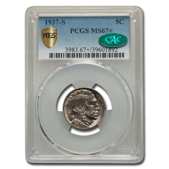 1937-S Buffalo Nickel MS-67+ PCGS CAC