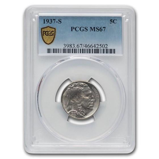 1937-S Buffalo Nickel MS-67 PCGS