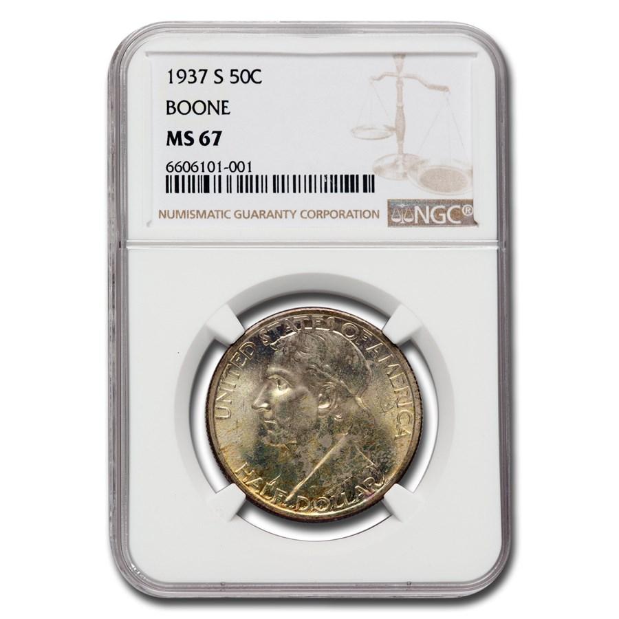 1937-S Daniel Boone Half Dollar MS-67 NGC