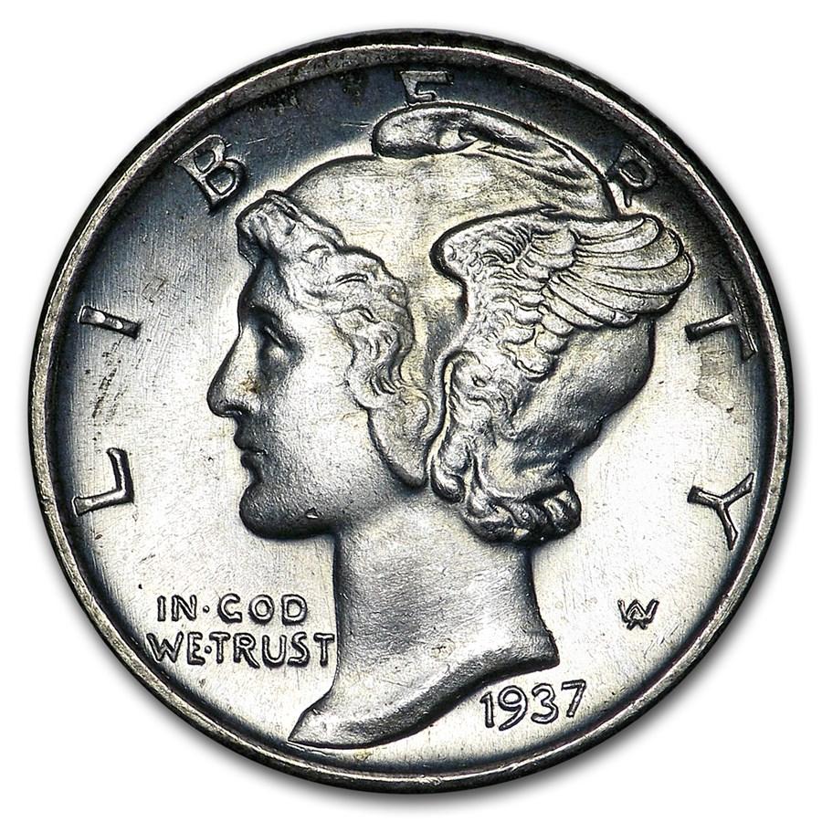 1937-S Mercury Dime BU