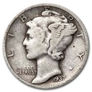 1937-S Mercury Dime Fine/VF