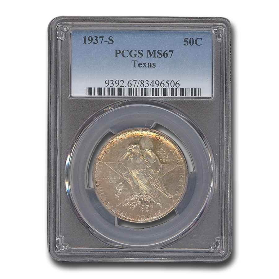 1937-S Texas Independence Centennial Half Dollar MS-67 PCGS