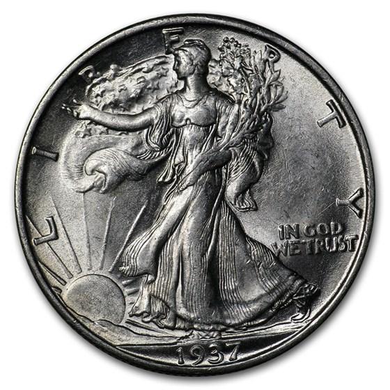 1937-S Walking Liberty Half Dollar BU