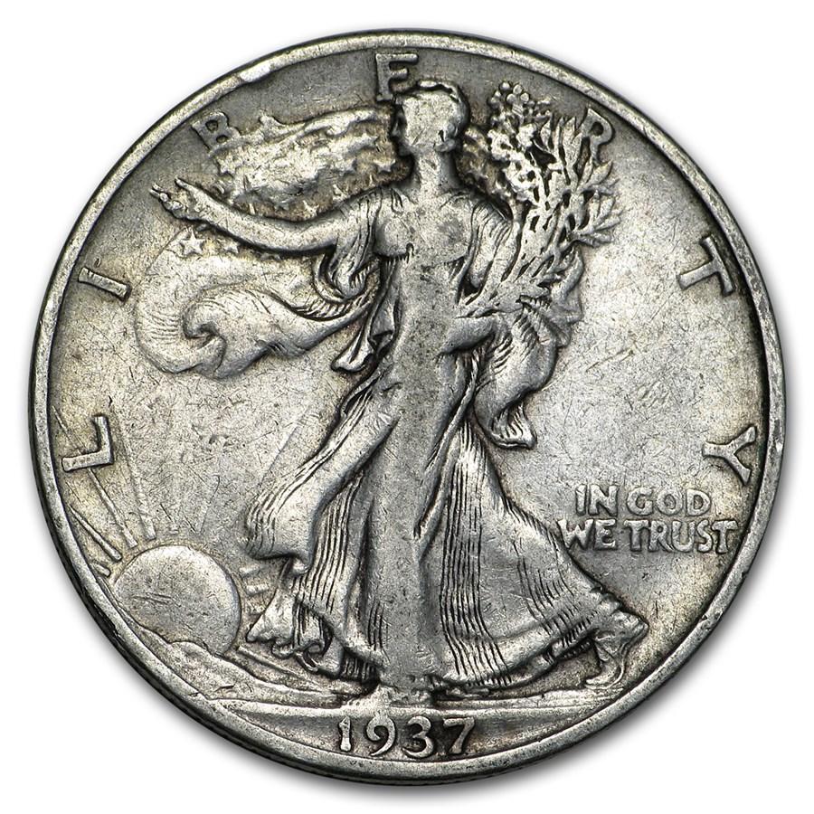 1937-S Walking Liberty Half Dollar VG/VF