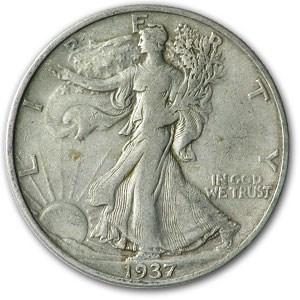 1937-S Walking Liberty Half Dollar XF