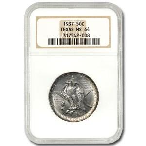 1937 Texas Centennial Half Dollar MS-64 NGC