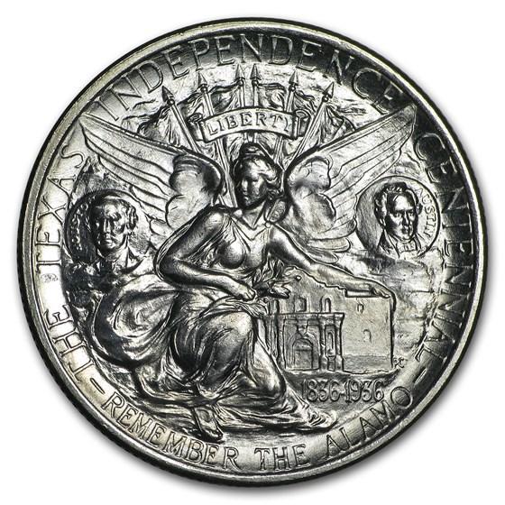 1937 Texas Independence Centennial Half BU