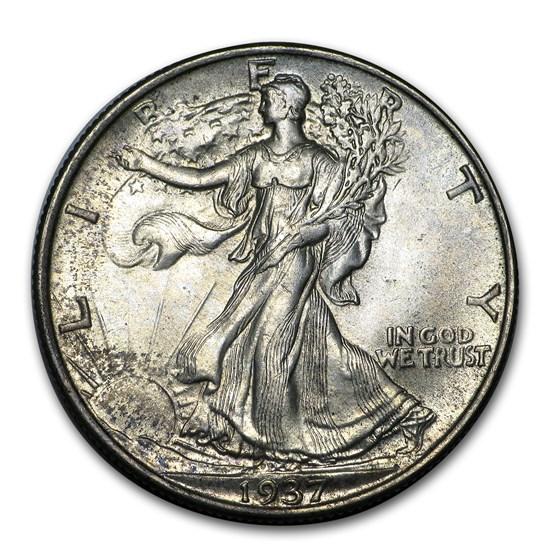 1937 Walking Liberty Half Dollar BU