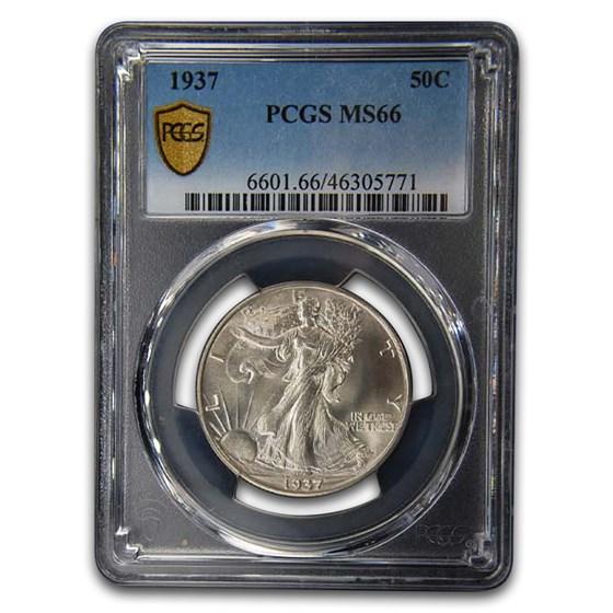 1937 Walking Liberty Half Dollar MS-66 PCGS
